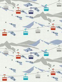 Alle aus dem Schneeurlaub zurück? Motiv gefunden bei 'aimée wilder'. Mehr Winter Motive -> https://de.pinterest.com/stoffschmie_de/winter-stoffe/