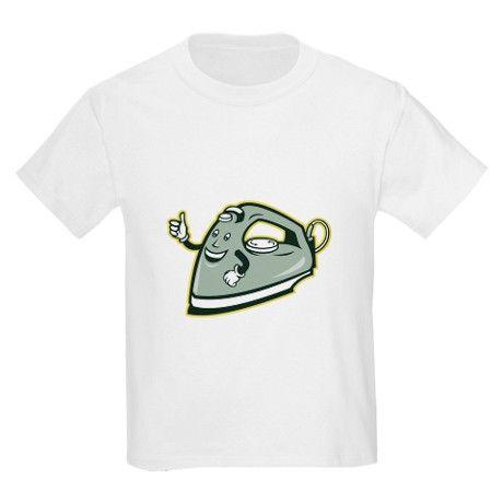 Electric Iron Mascot Thumbs Up Cartoon T-Shirt