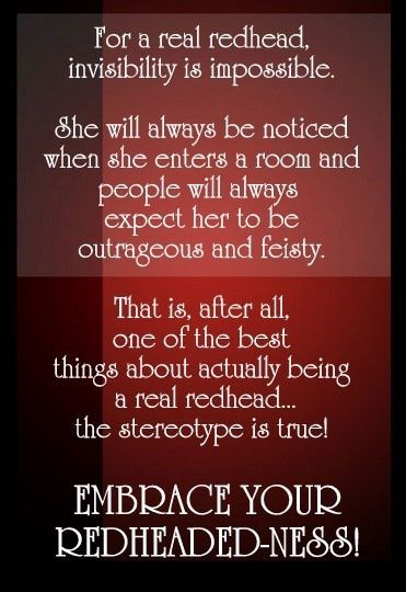 Frm Michele Caine's bd: I Love Being A Redhead!