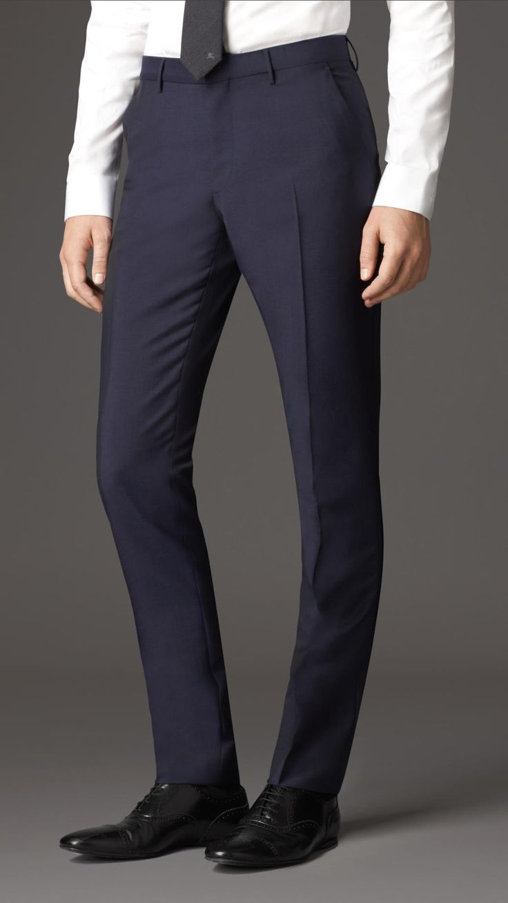 Slim Fit Wool Mohair Trousers | Burberry