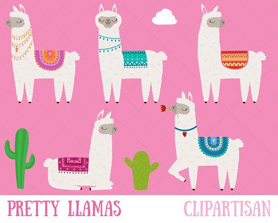 photo regarding Llama Printable titled Llama Clipart, Alpaca Printable, Wonderful Llamas and Alpacas
