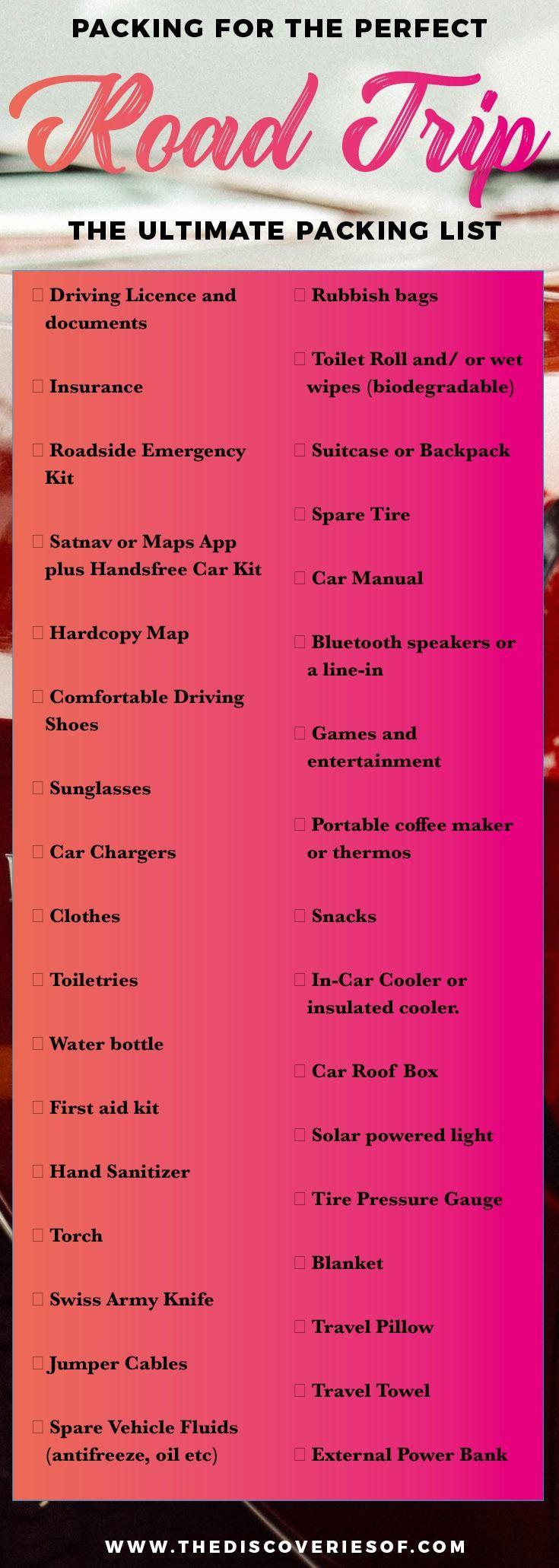 best 25 road trip checklist ideas on pinterest road trip road trip packing and road trip. Black Bedroom Furniture Sets. Home Design Ideas