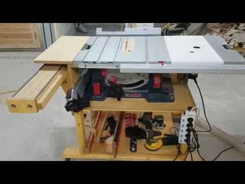 BOSCH GTS 10 XC table saw 테이블쏘제작 부엉이공작소 - YouTube