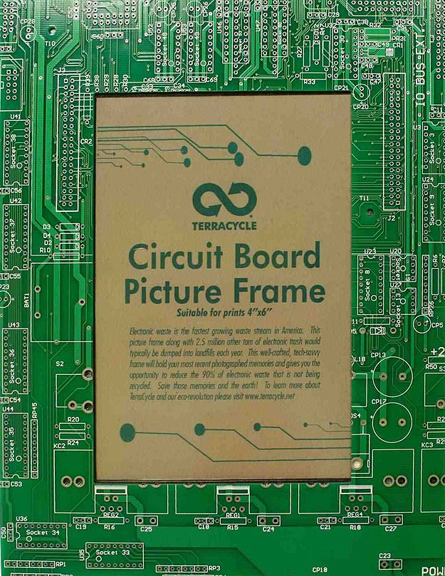 Circuit board picture frame.