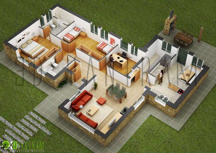 25 Two Bedroom House/Apartment Floor Plans   Particle News