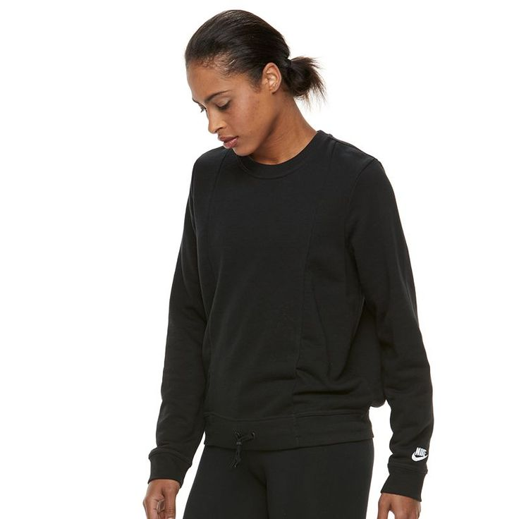 Women's Nike Plush Essential Pullover Hoodie, Size: Medium, Grey (Charcoal)
