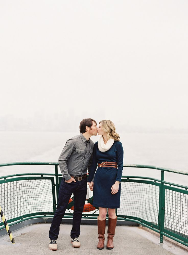 Ferry Ride Engagement from O'Malley Photographers on #SMP Weddings: http://www.stylemepretty.com/washington-weddings/seattle/2013/12/31/ferry-ride-engagement/