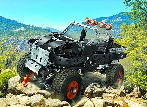 Meccano 4×4 Off-Road Truck – juegos de construcción (Vehicle, Batería, AA, Negro, Plata, Metal, Caja)