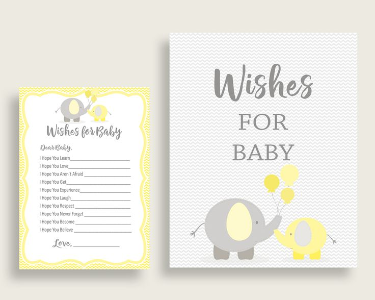 Wishes For Baby Baby Shower Wishes For Baby Yellow Baby Shower Wishes For Baby Baby Shower Elephant Wishes For Baby Yellow Gray party W6ZPZ #babyshowerparty #babyshowerinvites