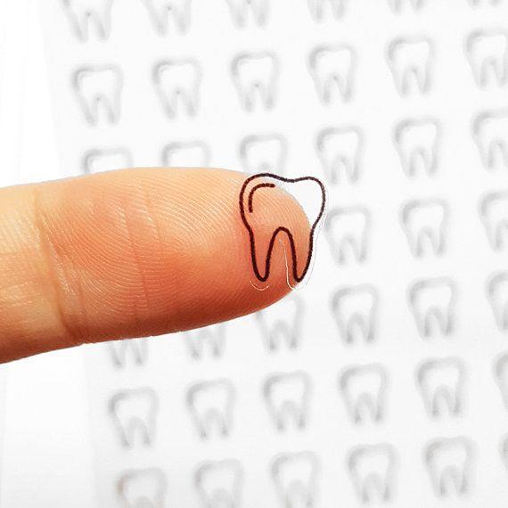 56 pegatinas de dentista dentista planificador por honeyinked