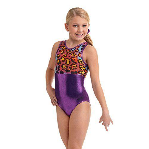 Alpha Factor gymnastics leotard in a jungle fest print