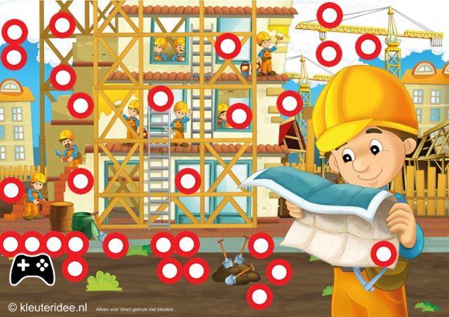 Interactieve praatplaat voor kleuters, thema 'wij bouwen een huis' , kleuteridee by juf Petra, by ThingLink