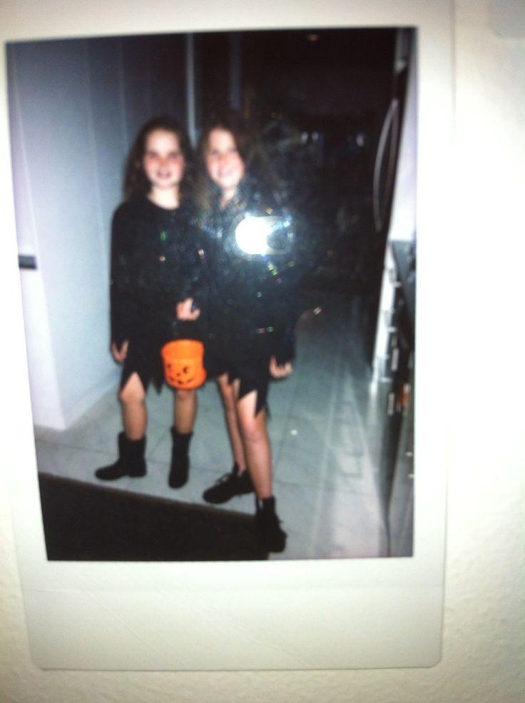 Halloween with my friend Saige