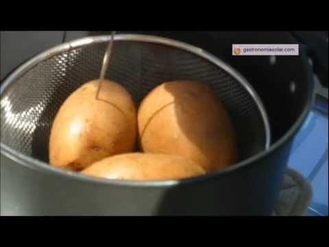 Patatas cocidas con energía solar