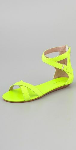 Shoe of the Day: Not so mellow yellow via Rebecca Minkoff
