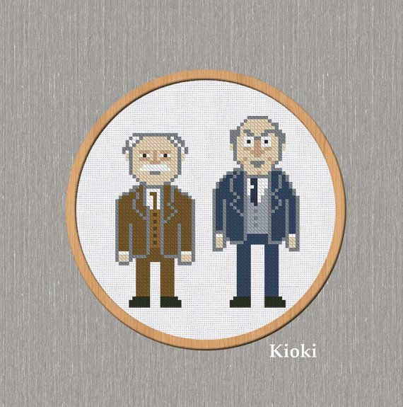 Hey, I found this really awesome Etsy listing at https://www.etsy.com/listing/182241236/cross-stitch-pattern-statler-and-waldorf