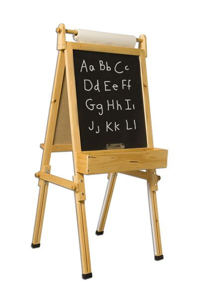 Write your own welcome message! Fundamental's Children's Easel - Adjustable Wooden Easels at - JerrysArtarama.com