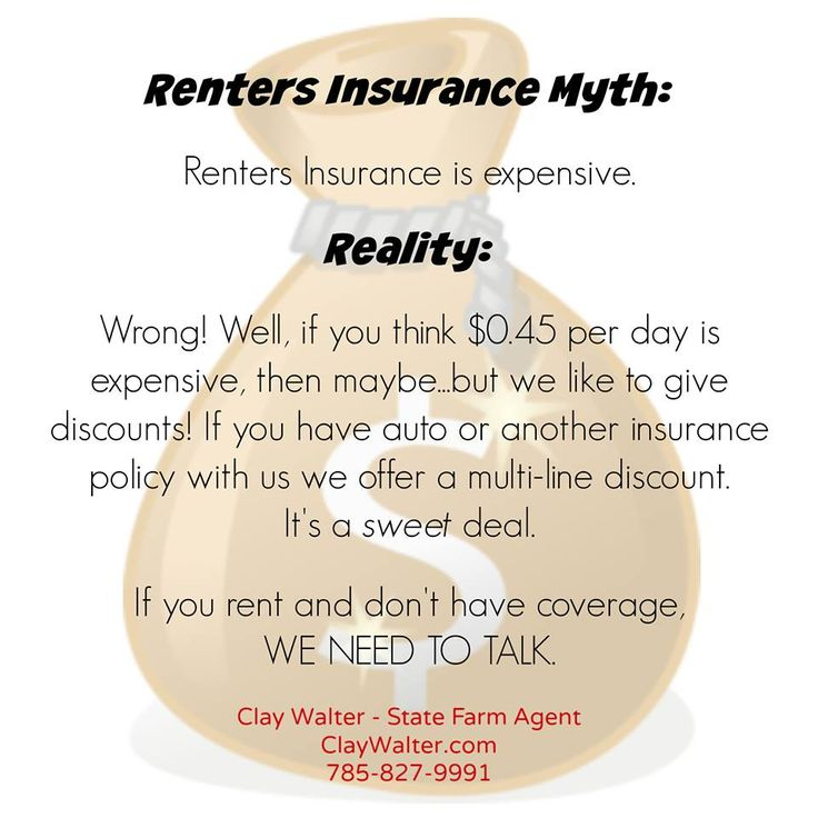 Renters Insurance Myth - Renters Insurance isn't expensive! | Clay Walter - State Farm Agent