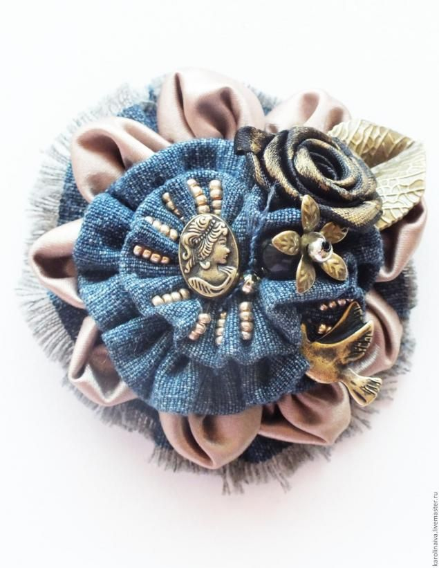 "Master class ""stylish beads from jeans"" - Fair Masters - handmade, handmade"