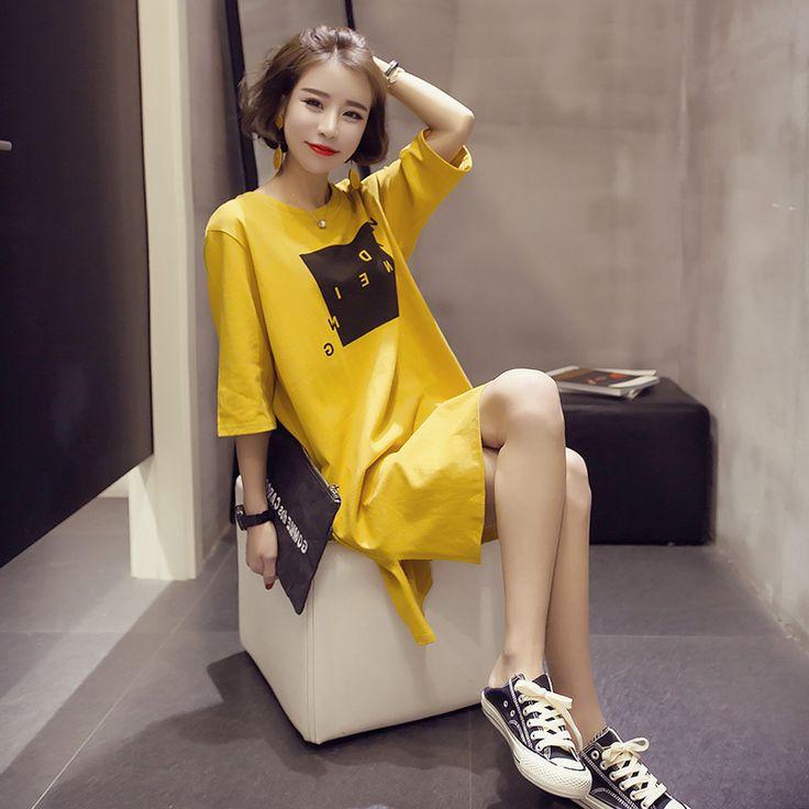 >> Click to Buy << 5xl plus big size blusas feminina spring summer 2017 korean women top new loose split fashion cute casual tshirts female A3499 #Affiliate
