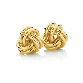 You have my heart tied in a LOVE KNOT...  Gold earrings