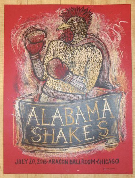 2016 Alabama Shakes - Chicago II Silkscreen Concert Poster by Dan Grzeca