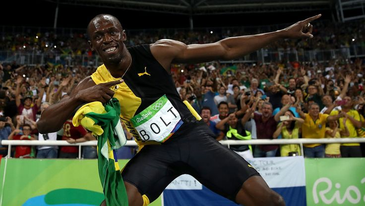 Unbeatable Bolt signs off with third Rio Gold!#bolt #riodejaneiro #olympics #gold