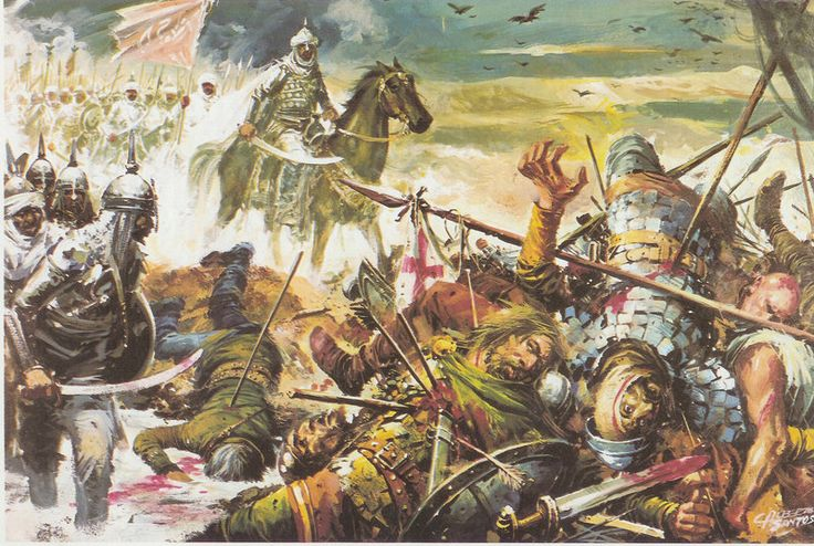 The Battle of Guadalete was fought in 711 or 712 between the Christian Visigoths of Hispania under their king, Roderic, and an invading force of Muslim Arabs and Berbers under the Berber commander Ṭāriq ibn Ziyad. The battle was significant as the culmination of a series of Berber attacks and the beginning of the Islamic conquest of Hispania. In the battle Roderic probably lost his life, along with many members of the Visigothic nobility, opening the way for the capture of Toledo.