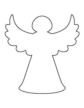 Christmas tree angel pattern. Use the printable outline for crafts, creating stencils, scrapbooking, and more. Free PDF template to download and print at http://patternuniverse.com/download/christmas-tree-angel-pattern/