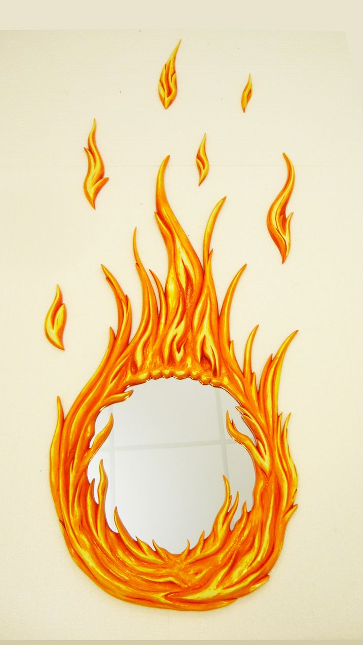 Flame Mirror Is  ready for purchase..! By MarvellousMirrors.com