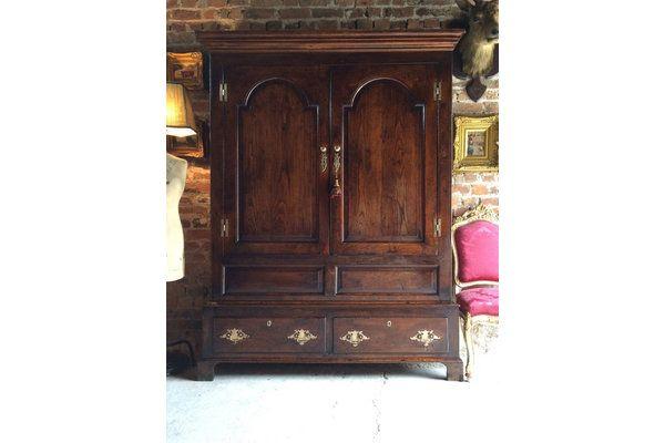 #Antique Wardrobe Armoire Cupboard Solid Oak 18th Century George III | Vinterior London  #vintage #furniture #home