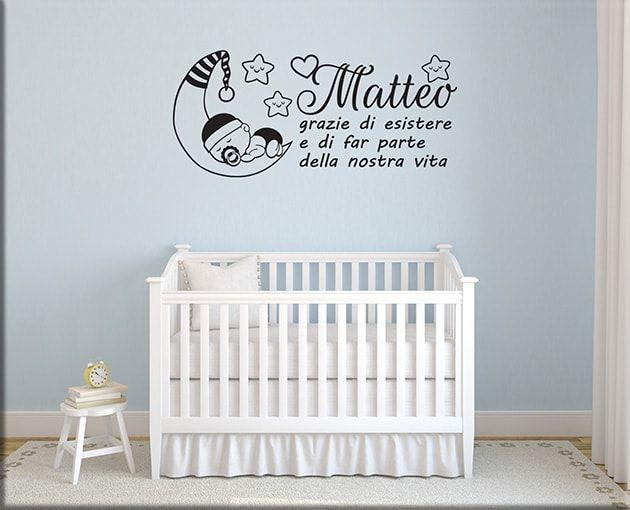 Adesivi Murali Frase Bebè Personalizzata Ws1297 Idee