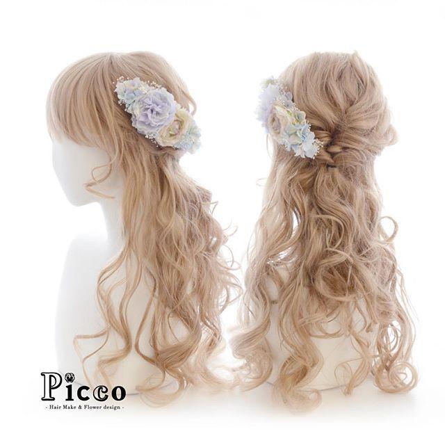 Gallery 243  Order Made Works Original Hair Accessory for WEDDING  #パステルカラー の #ドレス にぴったり  #アンティーク #ローズ と #かすみ草 で奏でる 優しい #ヘアアクセ  #シンプルスタイル で 気品を装う ✨  #結婚式  #カラードレス  #オーダーメイド #髪飾り #前撮り #挙式 #お色直し  #花飾り #造花 #ヘアセット #ヘアアレンジ #ダウンスタイル #ウェディング #ブライダル  #hairdo #flower #hairaccessory #picco #wedding #hairarrange  #bridal #dress  ただ今、大変混雑しております。 ご注文日より1ヶ月以上お時間を頂く場合もございますので ご依頼はお早めにお願いいたします。