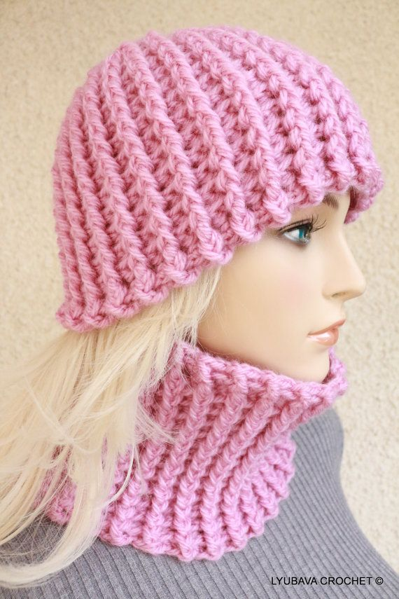 Crochet Neck Warmer : Crochet Pattern Easy Crochet Hat & Neck Warmer, Winter Hat Women Chun ...