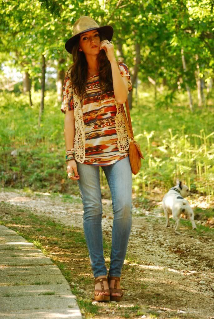 Crochet vest outfit