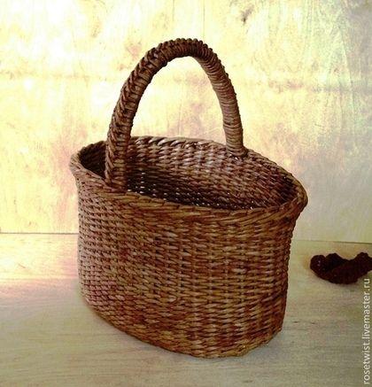 Корзина плетеная - плетеная корзина,для хранения,для кухни,деревенский стиль