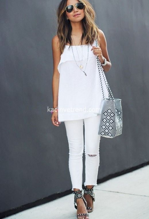 16 způsobů, jak nosit bílé džíny 2015