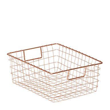Förvaringskorg Rut, 27x35 cm, koppar, konjak