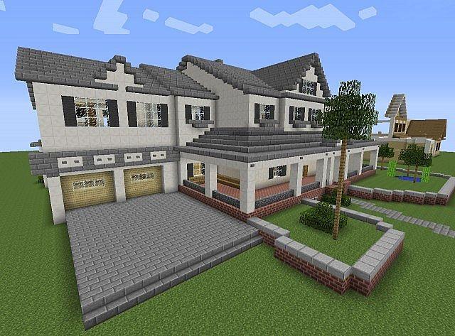 Townhouse Mansion minecraft house designs 2