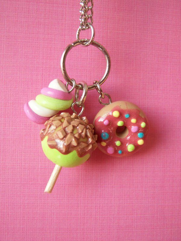 Clay Charms for a necklace or keychain