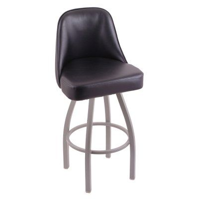 Holland Bar Stool Grizzly 36 in. Extra Tall Swivel Bar Stool with Faux Leather Seat - 84036ANBLKVINYL