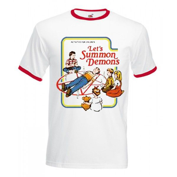 Lets Summon Demons Ringer T shirt