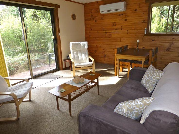 Photo of Eagles Rise Tasmania - Sisters Beach Tasmania, Australia. The cosy living area in Boronia Cottage.
