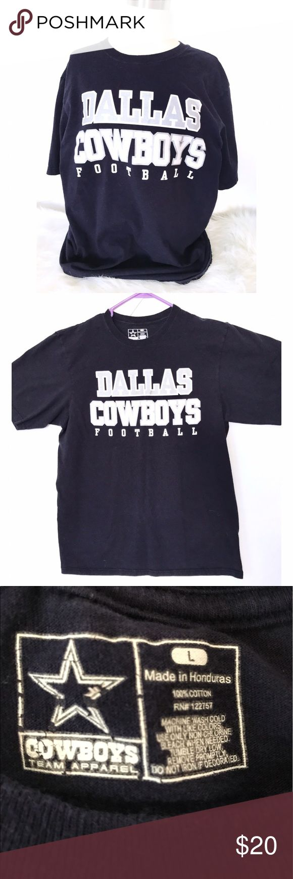 Dallas cowboys tee ⭐️ Rest condition Dallas cow boys tee. Ye writing has not cracks and still shines 😆 *please don't hesitate to ask questions* *reasonable offers considered* *gift included* Shirts Tees - Short Sleeve