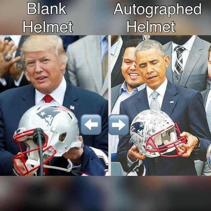 The difference between an admirable man and a lying buffoon in one picture...