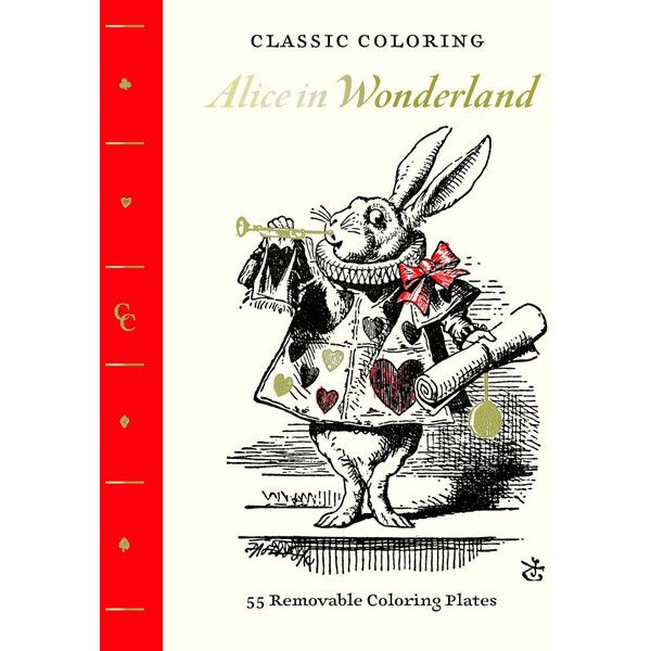 Abrams Books Classic Coloring: Alice In Wonderland (adult Coloring... ($13) ❤ liked on Polyvore featuring home, home decor and stationery