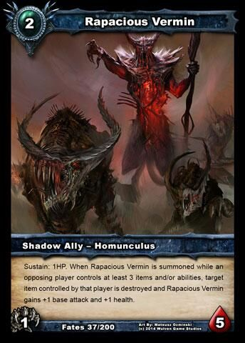 Art for Shattered Fates expansion card, Rapacious Vermin