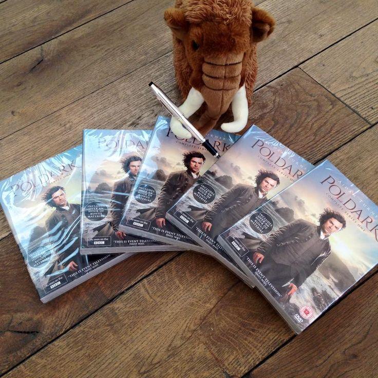 Cavendish with the new Poldark DVDs! EEEEEK!!!! <3