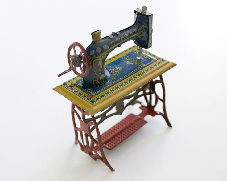 Antique RARE German lithographed Tin Sewing Machine Penny Toy Miniature | eBay