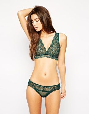 Loving the colour of this lace set. The forest green colour will look beaut against fairer skin. http://asos.to/1sarq5m